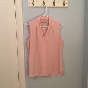Tahari pink sleeveless blouse